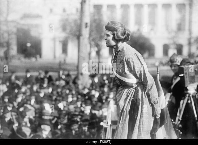 Lucy Branham, Suffragette, at Rally, Washington DC, USA, circa 1919.jpg - Stock Image