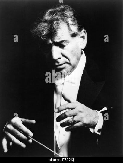 Leonard Bernstein (1918-1990), American Composer and Conductor, Portrait, circa 1960's - Stock Image