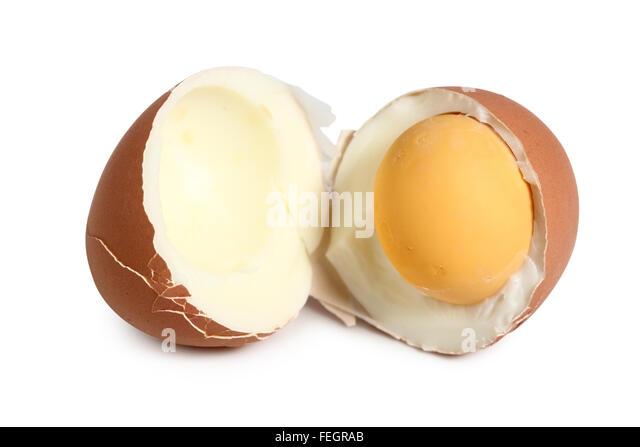 how to make hard boiled egg with broken yolk