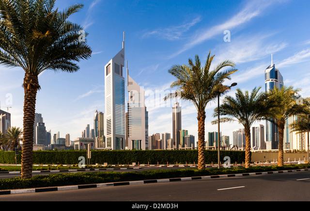 Dubai - Emirates Towers - Stock Image