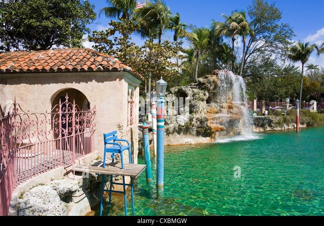 Venetian Pool, Coral Gables, Miami, Florida, United States of America, North America - Stock Image