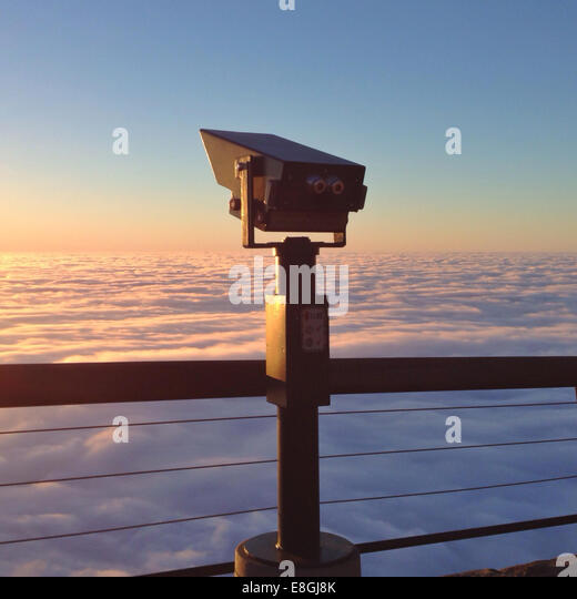 South Africa, Cape Town, Hand-Held Telescope - Stock Image