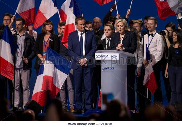 Villepinte, France. 1st May, 2017. French presidential election candidate for the far-right Front National (FN) - Stock Image