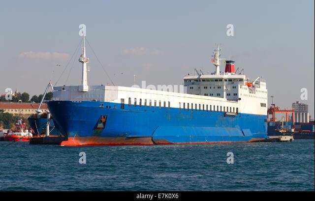 Ro-ro Ship - Stock Image