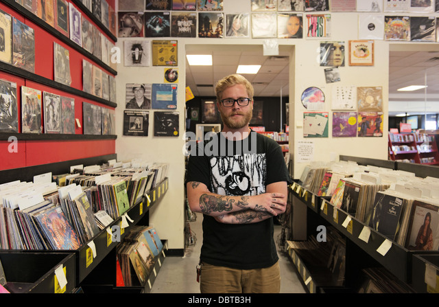 ZIA Record Exchange store, 4503 West Sahara Avenue, Las Vegas, NV, USA - Stock Image