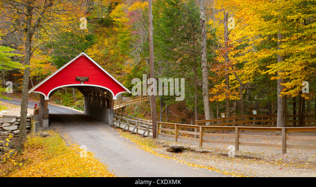 Franconia Notch State Park, New Hampshire, New England, United States of America, North America - Stock Image