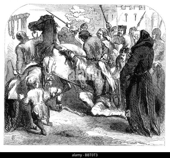 Death of William Fitz Osbert Saviour of the Poor AD - Stock Image