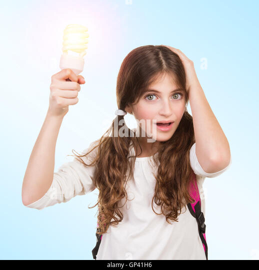 Clever School Girl: Brain Shock Stock Photos & Brain Shock Stock Images