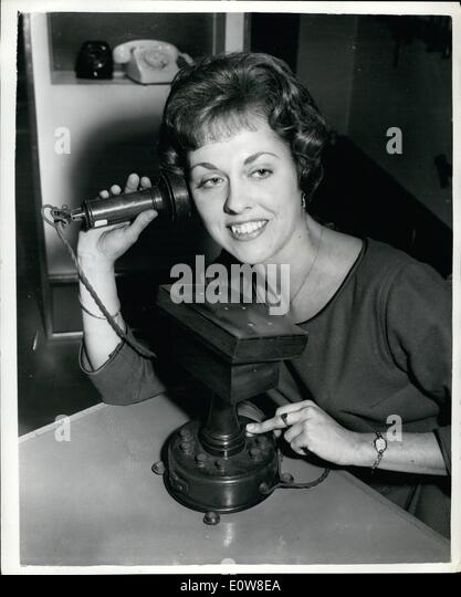 Nov. 11, 1961 - Historical telephone Equipment on show in London – A permanent exhibition - Stock Image