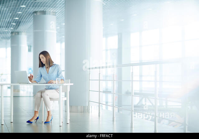Woman at work - Stock Image