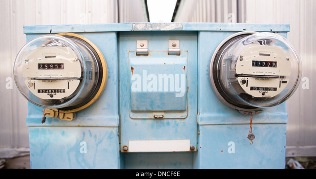 Utility Meter Analog : Old style electricity meter stock photos