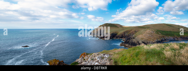 Kellan Head at Port Quin on the North Cornwall Coast - Stock-Bilder