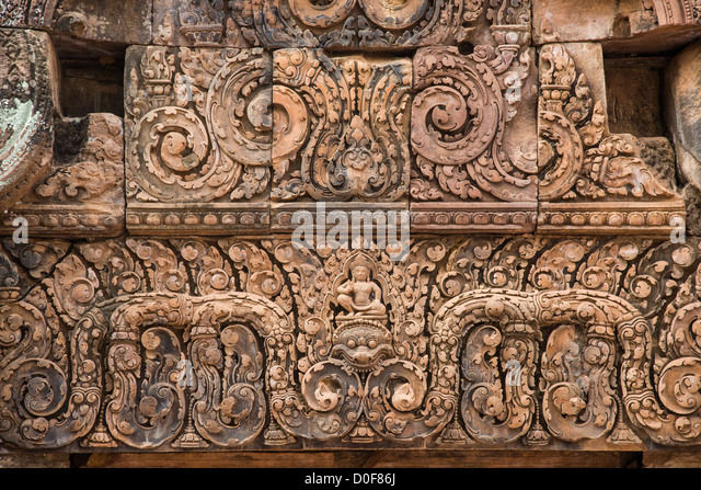 Angkor stone carving stock photos