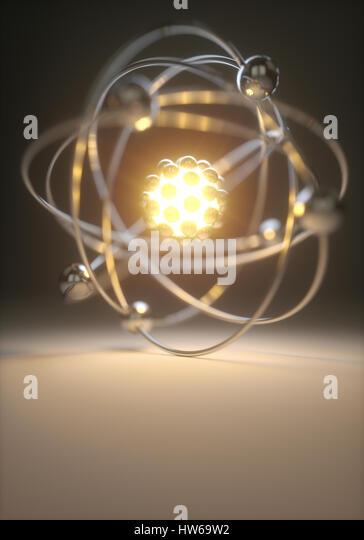 Atom, illustration. - Stock-Bilder