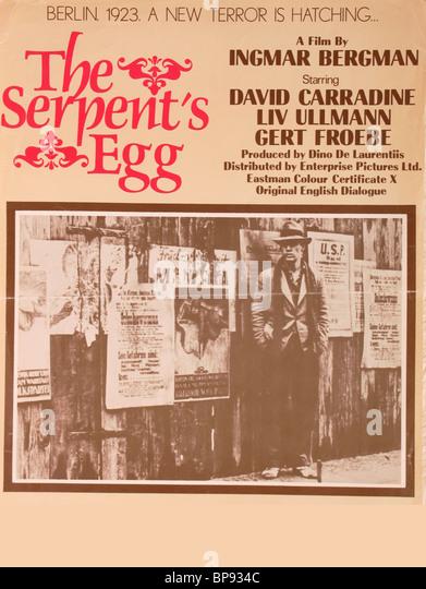 FILM POSTER THE SERPENT'S EGG (1977) - Stock-Bilder