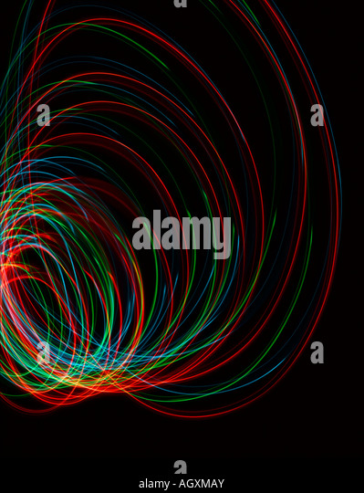 Red green and blue sound or light waves - Stock-Bilder