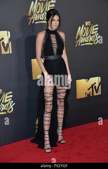 Burbank, California, USA. 9th April, 2016. Kendall Jenner at the 2016 MTV Movie Awards at Warner Bros Studios.  - Stock Image