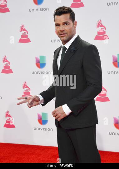 Las Vegas, Nevada, USA. 19th Nov, 2015. Singer Ricky Martin attends the 2015 Latin Grammy Awards on November 19, - Stock Image
