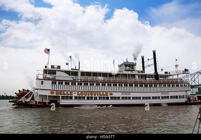 ... of Louisville, on the River Ohio in Louisville Kentucky - Stock Image