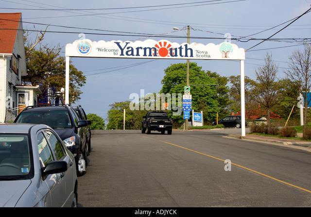 city of Yarmouth, Nova Scotia, Canada.  Photo by Willy Matheisl - Stock Image