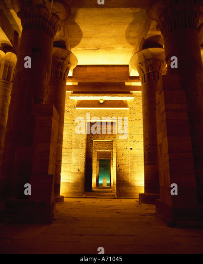 Temple of Isis Egypt - Stock-Bilder