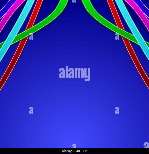 Abstract background with colored lines - Stock-Bilder