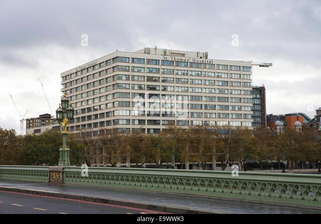 St. Thomas Hospital, London, UK - Stock Image
