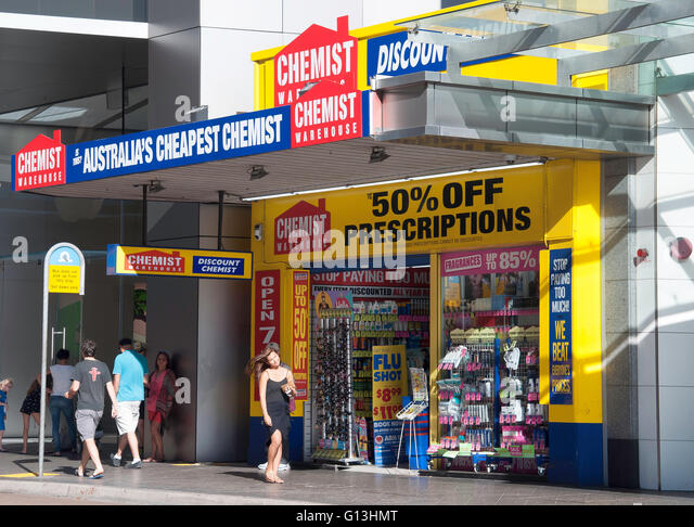 Chemist Warehouse, Oxford Street, Bondi Junction, Sydney, New South Wales, Australia - Stock Image