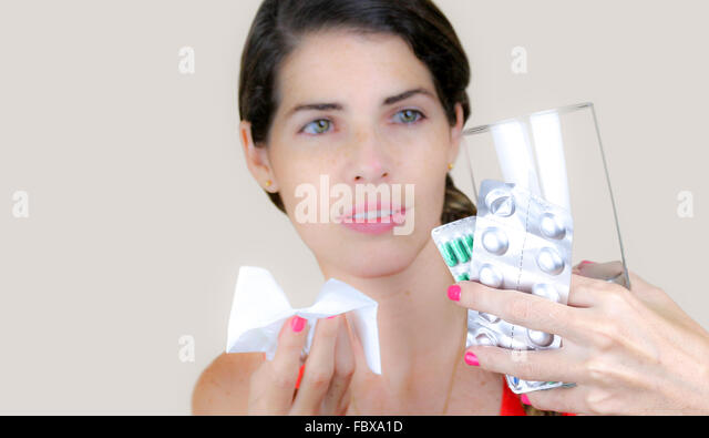 Hate being sick - Stock Image