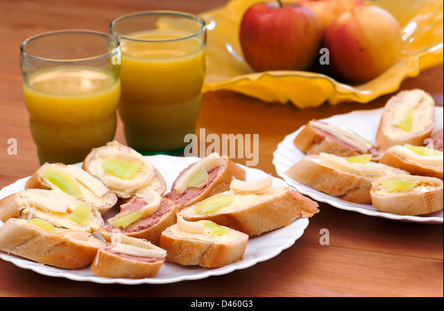 Brakfast stock photos brakfast stock images alamy for Breakfast canape
