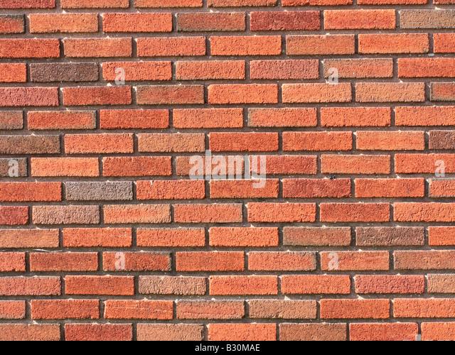Red Brick wall Background bricks - Stock Image