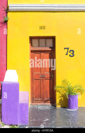 Bo-Kaap in Cape Town. - Stock Image