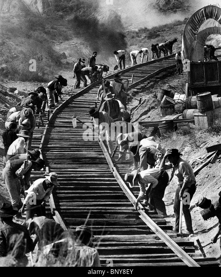 RAILROAD WORKERS ONCE UPON A TIME IN THE WEST (1968) - Stock-Bilder