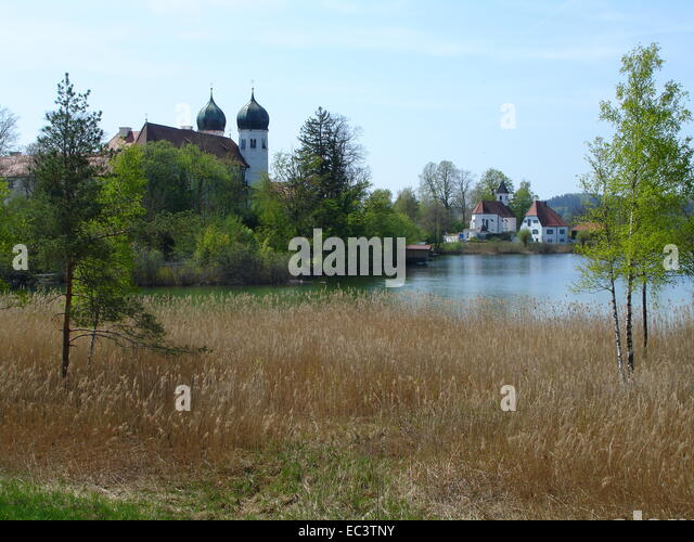 Abbey Church, Seeon, Bavaria, Germany - Stock Image