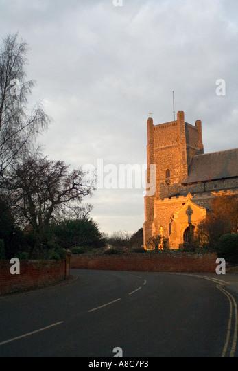 Saxon Cross Saint Bartholomew s Church in Orford Suffolk England - Stock Image