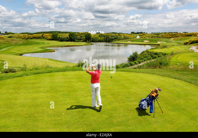 Europe, France, Yvelines, Golf National at Guyancourt - Stock Image
