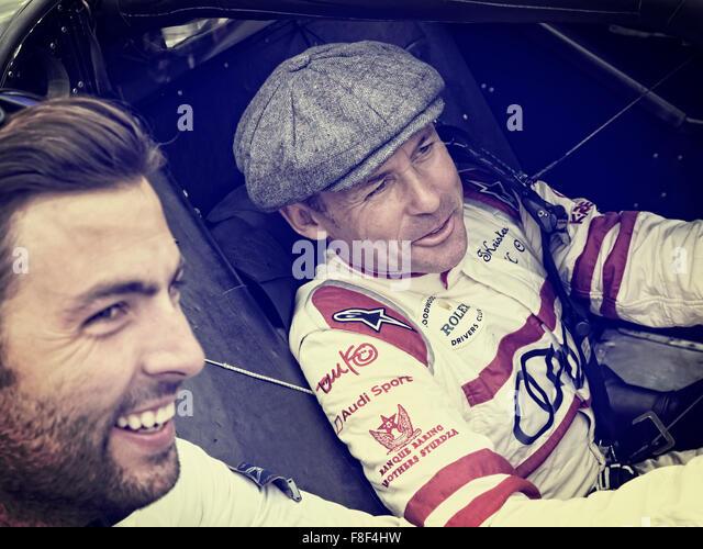 Goodwood Revival 2015. Tom Kristensen Danish racing driver - Stock Image