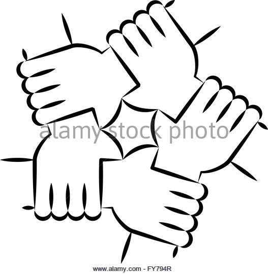 Line Drawing Unity : Mixed race ethnicity stock vector images alamy
