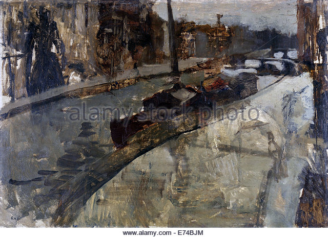 The Princes Canal Near the Laurier Canal, Amsterdam - by George Hendrik Breitner, 1880 - 1923 - Stock Image