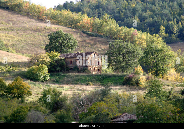 Typical of the properties  for restoration near the Sibillini National park, Le Marche ,the Marches ,Italy - Stock Image