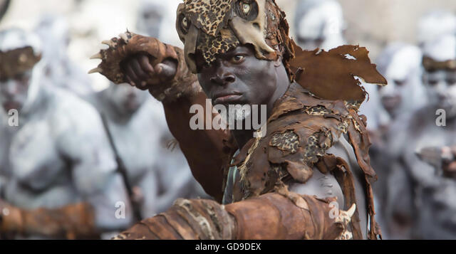 THE LEGEND OF TARZAN  2016 film with Djimon Hounsou - Stock Image
