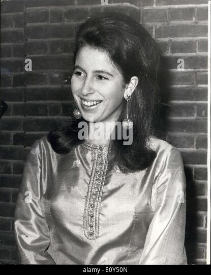 Nov. 06, 1968 - Show Jumping Association Reception - The Queen Mother and Princess Anne last night Attended a reception - Stock Image