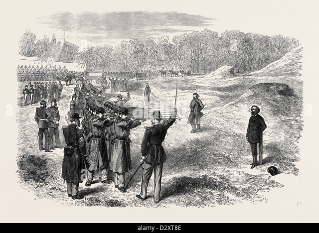 EXECUTION OF ROSSEL FERRE AND BOURGEOIS AT SATORY NEAR PARIS 1871 - Stock Image