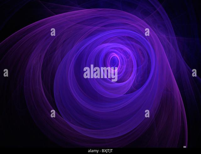A Fractal Image Entitled Ultra Violet Blues - Stock Image