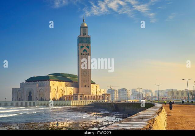 Hassan II Mosque, Casablanca, Morocco, Africa - Stock-Bilder