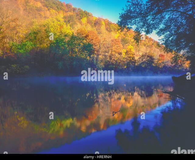 Green River,  Mammoth Cave National Park, Kentucky   Southern Appalachian Mountains - Stock-Bilder