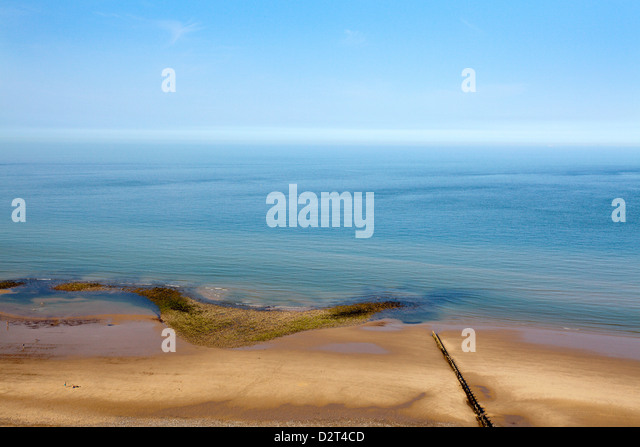 Quiet Beach between Cromer and Overstrand, Norfolk, England, United Kingdom, Europe - Stock Image
