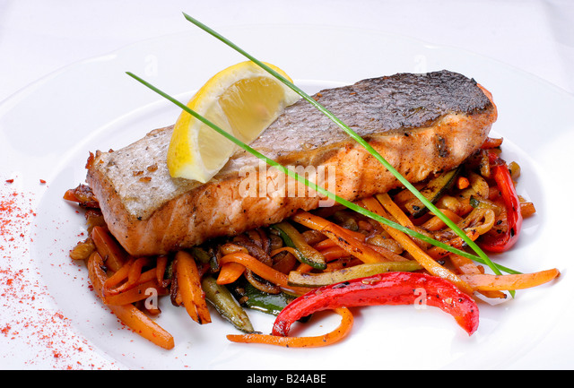 fish salmon - Stock Image