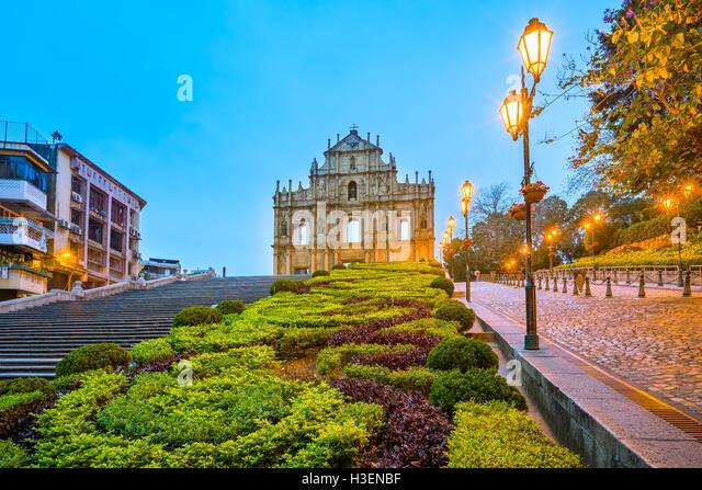 The Ruins of St. Paul's in Macau. - Stock Image
