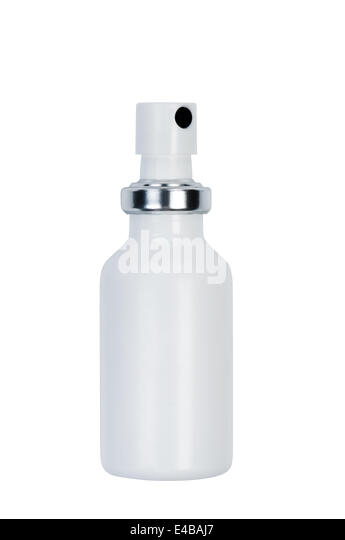 Bottle with spray. - Stock Image